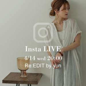 210413_news_1 【告知】yun_wear×Re:EDITコラボITEMが新登場!instaliveも配信予定!