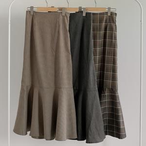 品よくモダンなフレア&マーメイドスカート