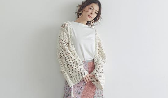 132760_ハンドメイド透かし編みショート丈カーディガン
