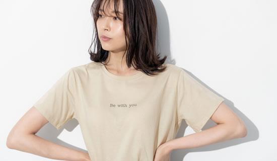 133272_ショート丈フロントロゴTシャツ