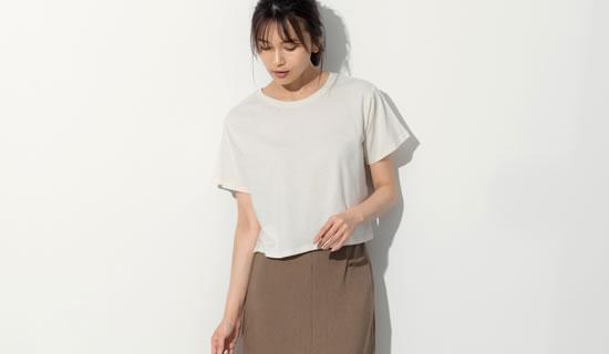 133273_クルーネックショート丈Tシャツ