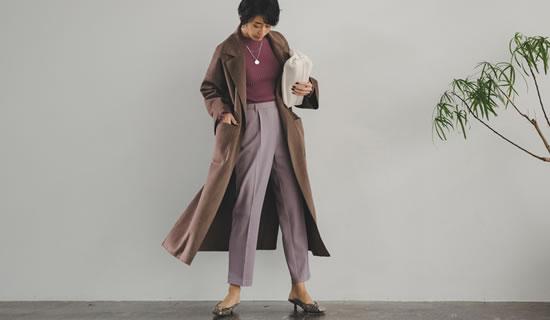 [神山まりあさん着用][低身長サイズ有]ダブルフェイス軽量ガウンコート
