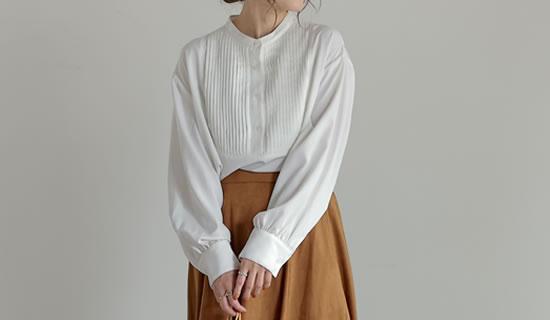 133548_[yun×Re:EDIT(リエディ)コラボ][低身長向けSサイズ対応]ピンタックブザムシャツ