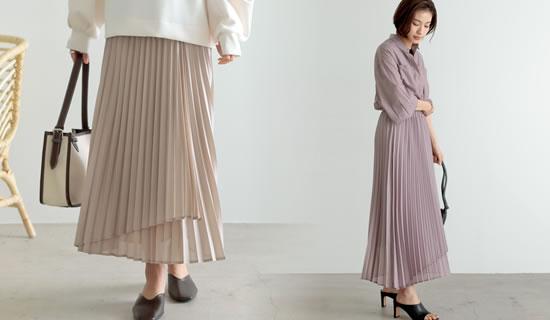 133834_[低身長サイズ有]シアーシフォンラッププリーツスカート