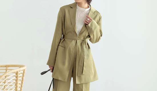 133858_[低身長サイズ有]サテンウエストベルトシャツジャケット