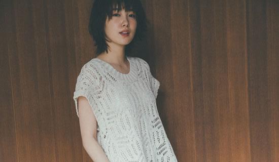 [飯豊まりえさん着用][低身長サイズ有]テープヤーンニット透かし編みノースリチュニック
