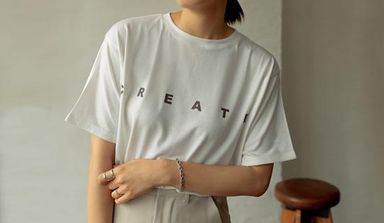 [UVカット][接触冷感]フロントプリントTシャツ