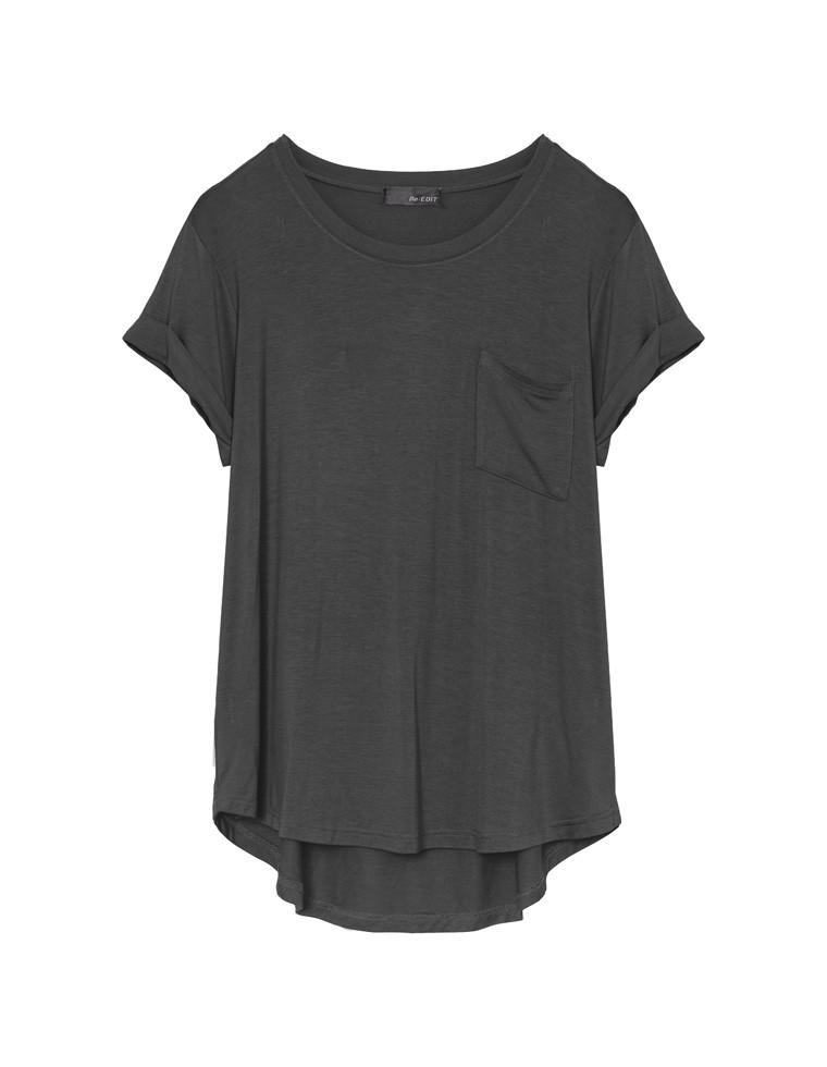 [お家で洗える][chi-syan着用]接触冷感オーバーサイズロールアップポケットTシャツ