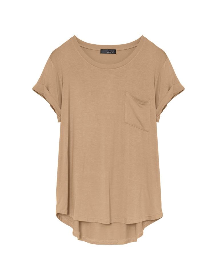 [お家で洗える]接触冷感オーバーサイズロールアップポケットTシャツ
