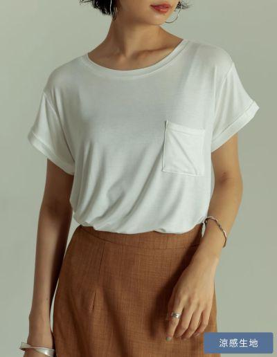 オーバーサイズロールアップポケットTシャツ