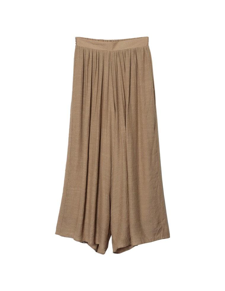 [yuricookieさん着用][お家で洗える][低身長向けSサイズ対応]楊柳スカンツ