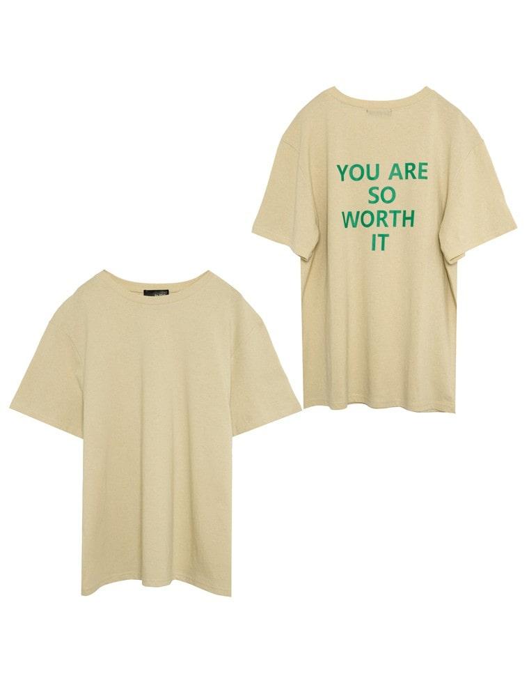20/-綿天竺バックプリントTシャツ