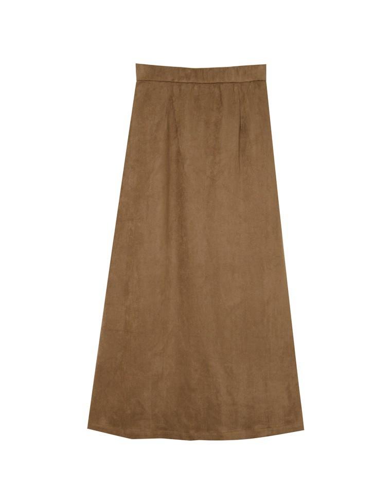 スエードタッチストレッチタイトスカート