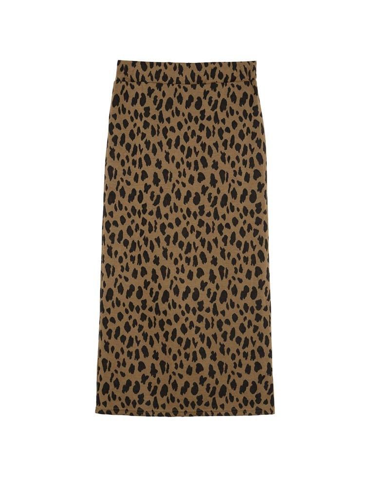 レオパード柄ストレッチタイトスカート