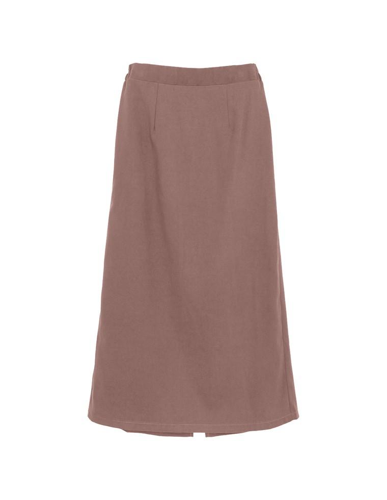 ベイクドカラーピーチスキン台形スカート