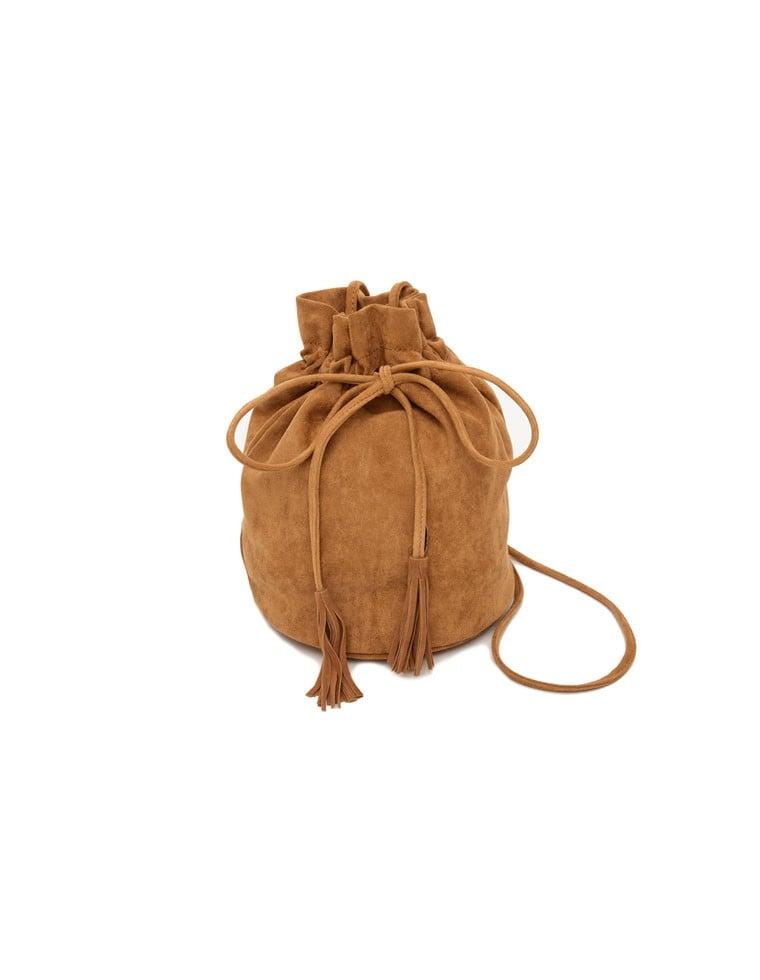[L.A.セレクト]フェイクスエード巾着バッグ