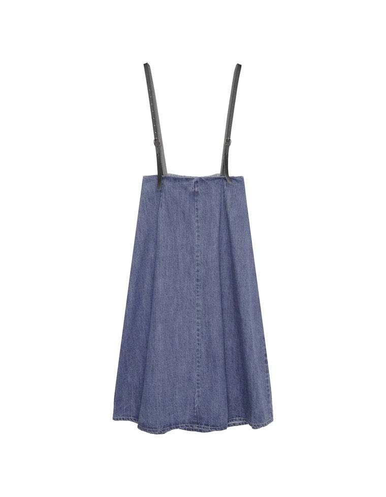 サスペ付きデニムジャンパースカート
