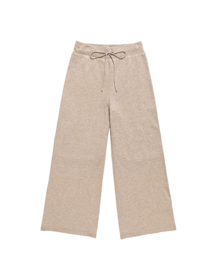 天竺編みストレッチニットストレートパンツ