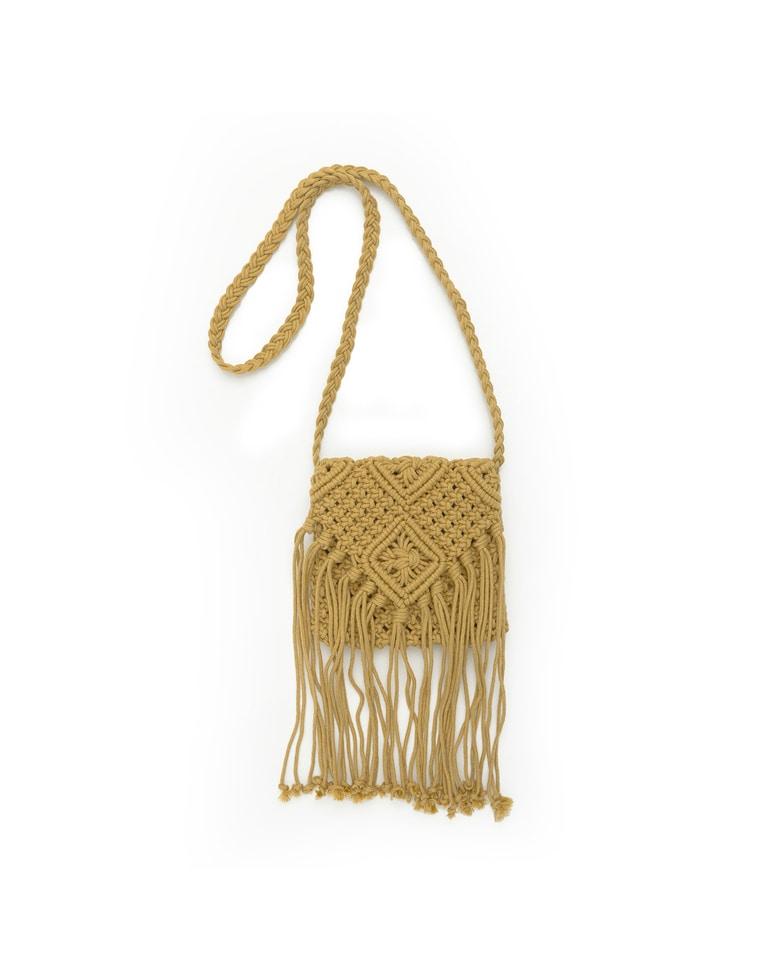[L.A.]マクラメ編みフリンジバッグ
