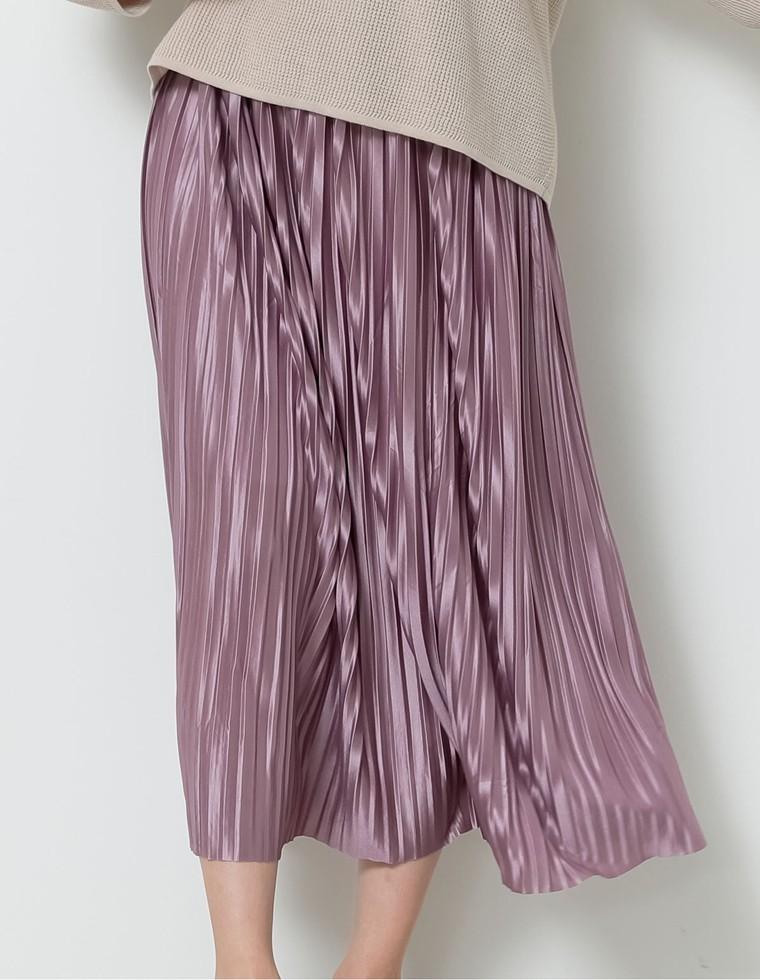 シアーサテンプリーツスカート