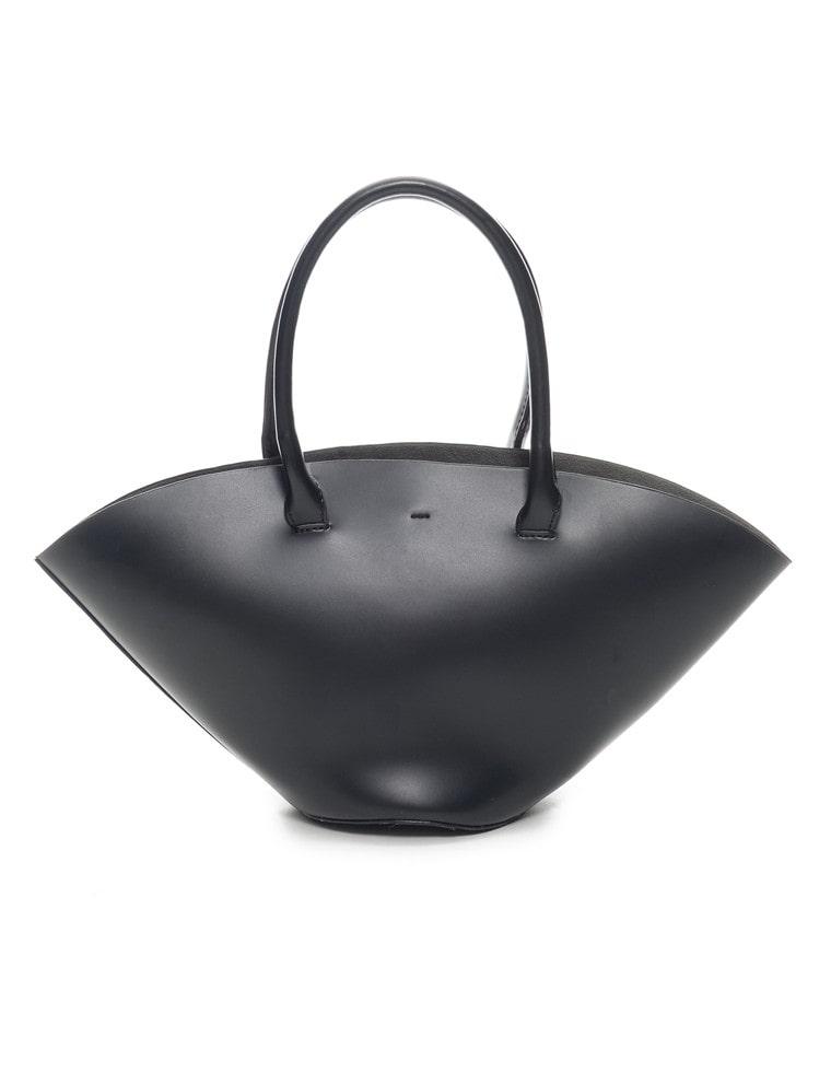 フェイクレザートライアングルハンドバッグ
