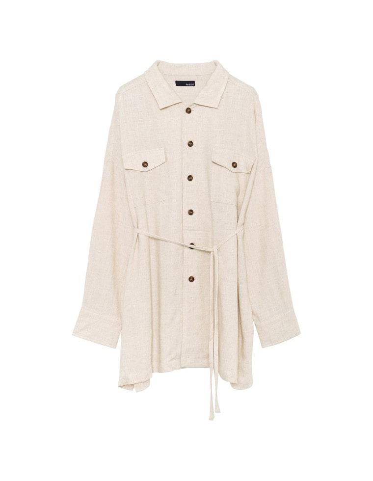 [涼感][cestmignon_mauさん着用]softリネンルーズシャツジャケット