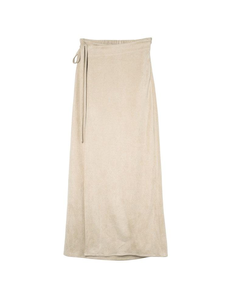 ポンチスウェードラップ風マキシスカート