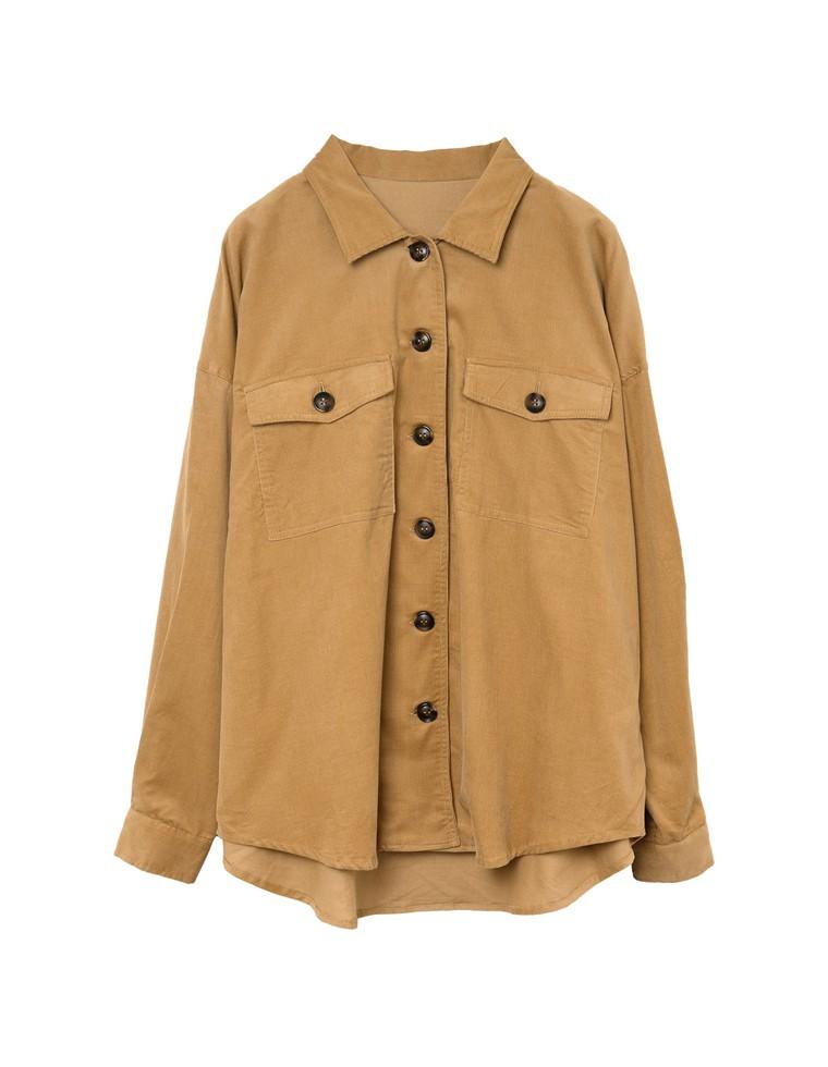 ソフトコーデュロイドロップショルダーCPOシャツジャケット