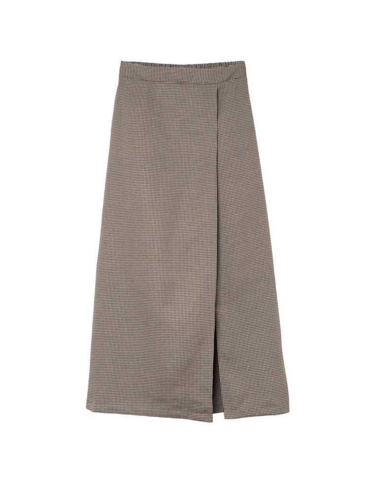 ガンクラブチェック柄ナロースカート