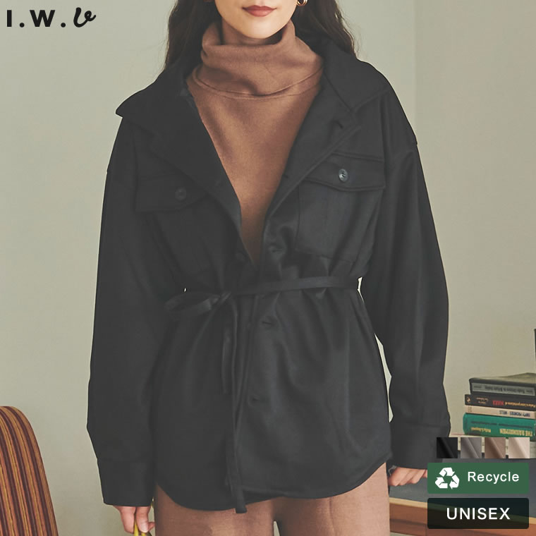 132424_[IWU(アイダブリュー)]ユニセックスあったか表起毛リサイクルジャージーCPOジャケット