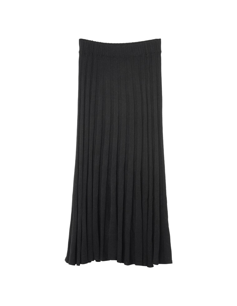 ソフトニットプリーツスカート