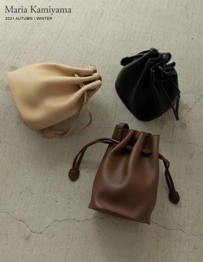 [神山まりあさん着用]巾着型ショルダーバッグ