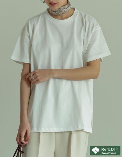 コットンシンプルビッグTシャツ