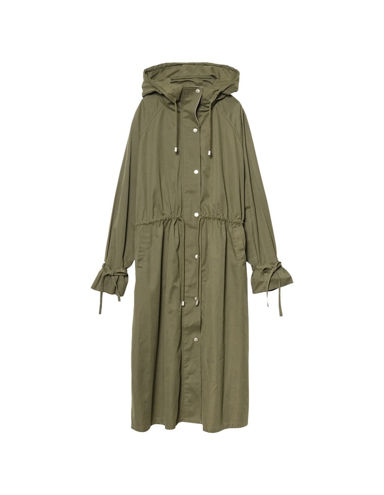 [2020A/W COLLECTION][低身長向けSサイズ対応]袖ベルトロング丈ミリタリージャケット