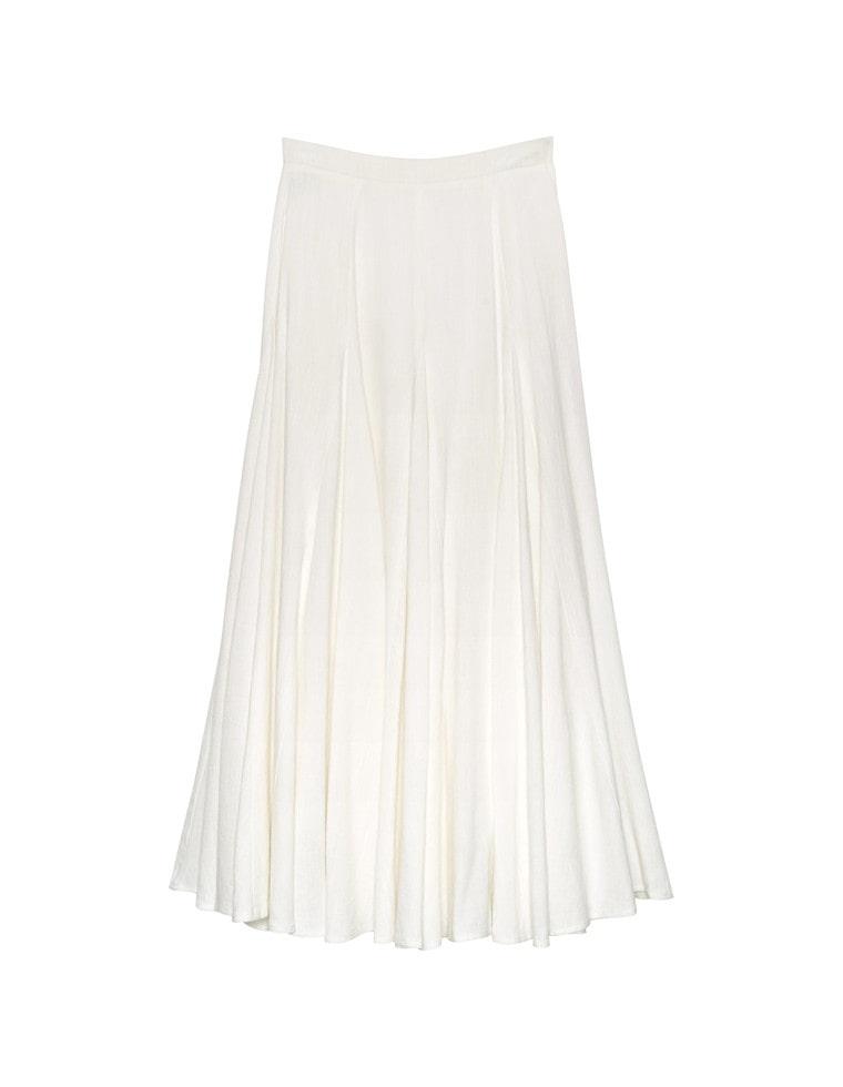 [chi-syanさん着用][yuricookieさん着用][涼感][低身長向けSサイズ対応]リネンブレンドマキシ丈スイングスカート