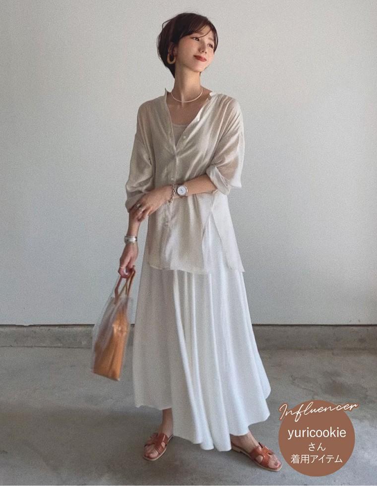 Re:EDIT‐リエディ [低身長向けSサイズ対応]リネンブレンドマキシ丈スイングスカート