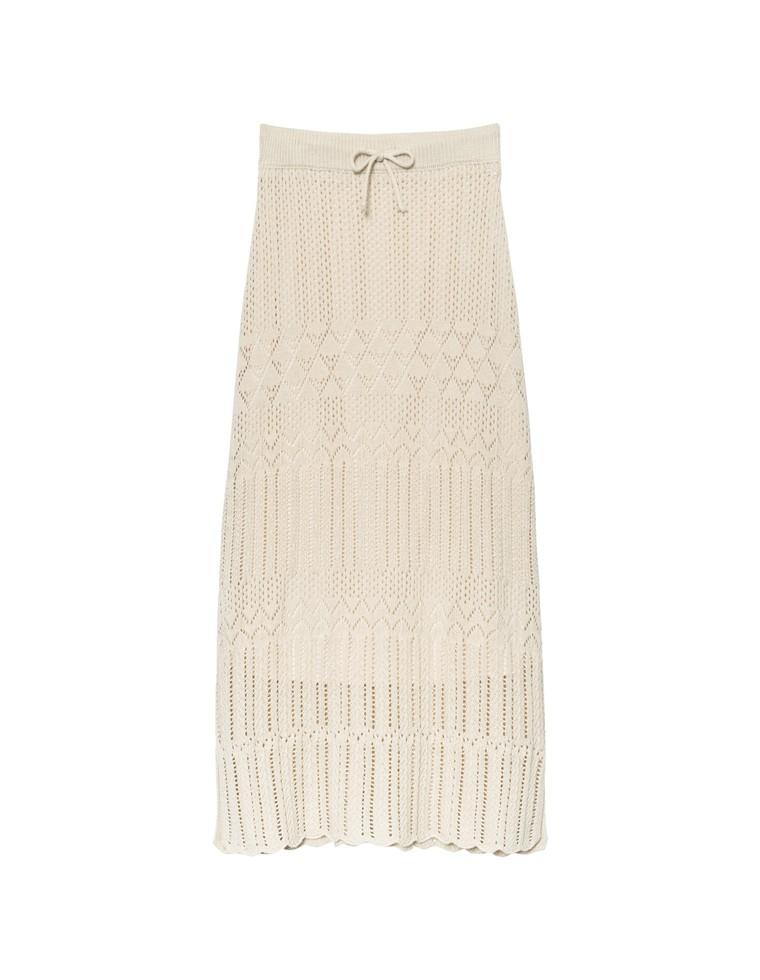 [低身長向けSサイズ対応]かぎ編みニットスカート