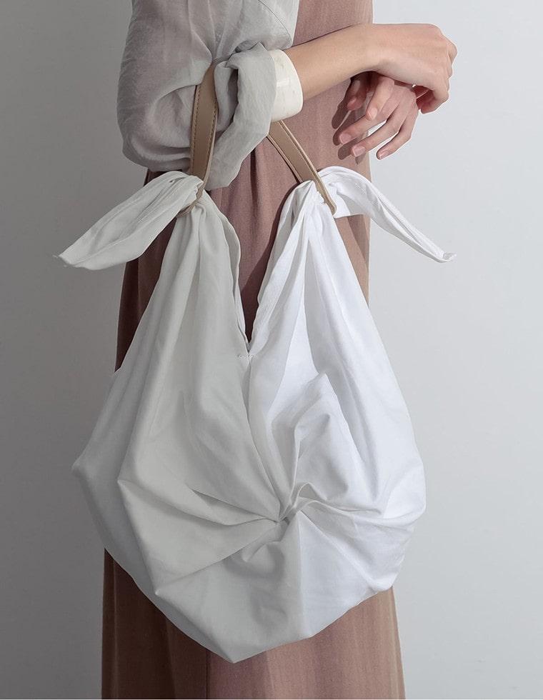Re:EDIT‐リエディ ツイストデザインコットンハンドバッグ