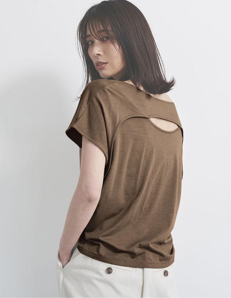 Re:EDIT‐リエディ [抗菌除菌][お家で洗える][人と地球にやさしい]ソイビーンバックオープンTシャツ