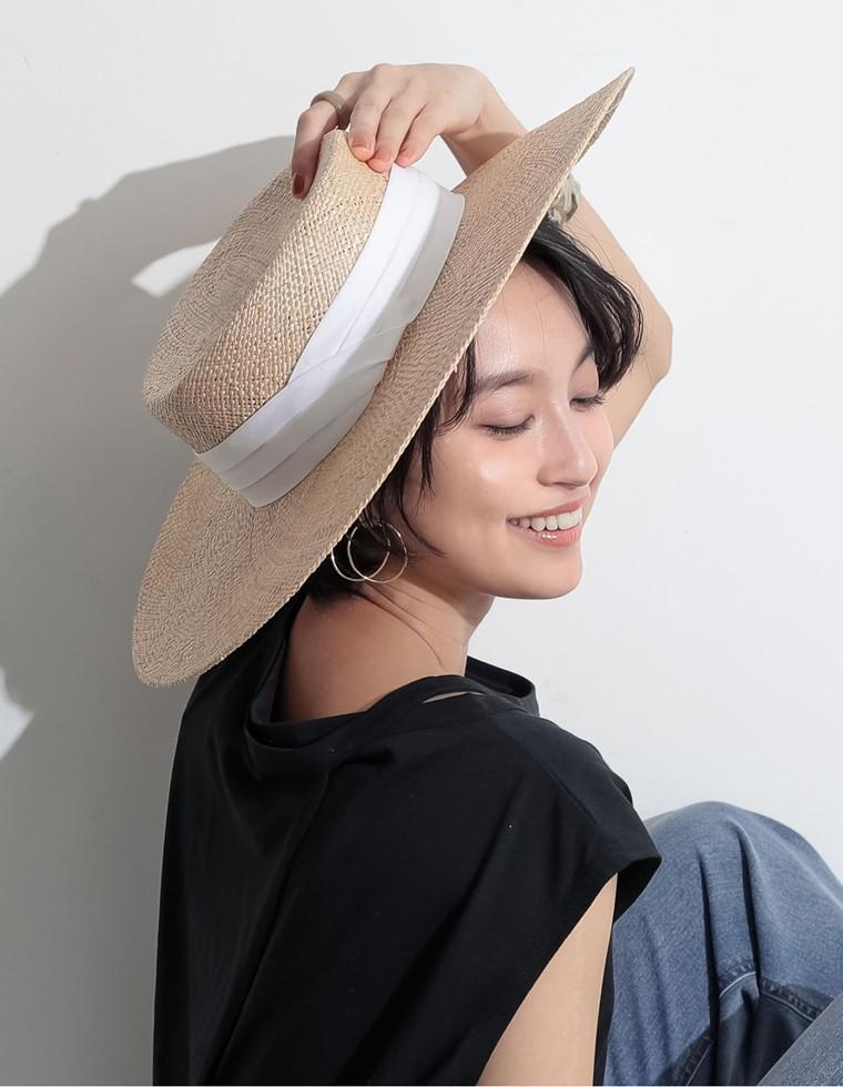 Re:EDIT‐リエディ つば広ストロー麦わら帽子