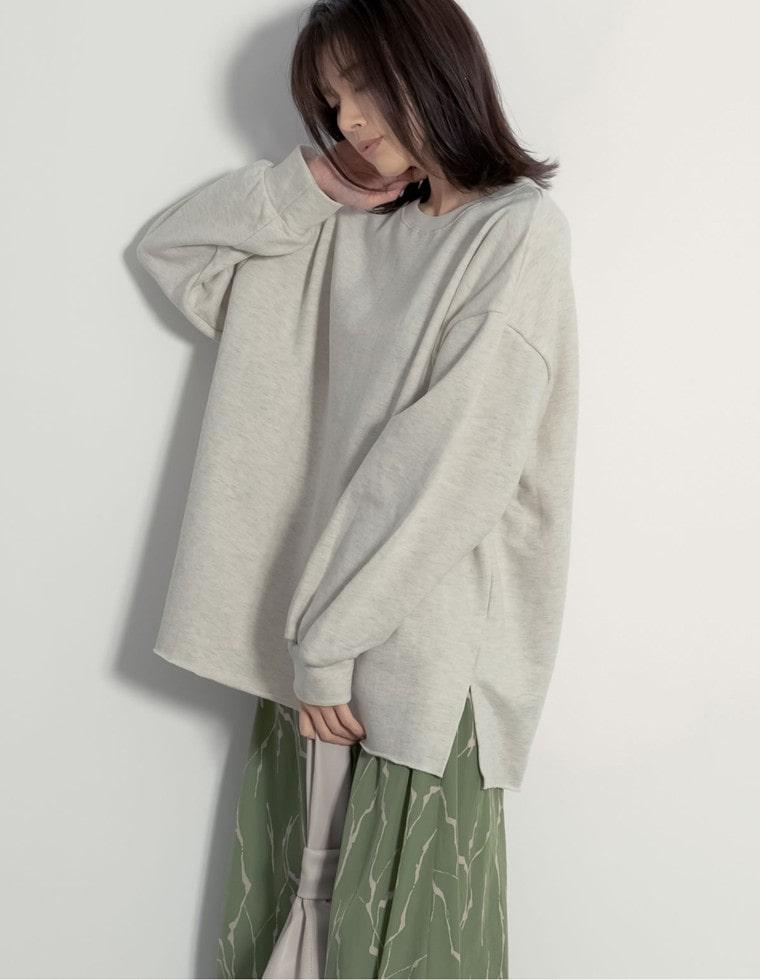 Re:EDIT‐リエディ オーバーサイズチュニック丈カットソー