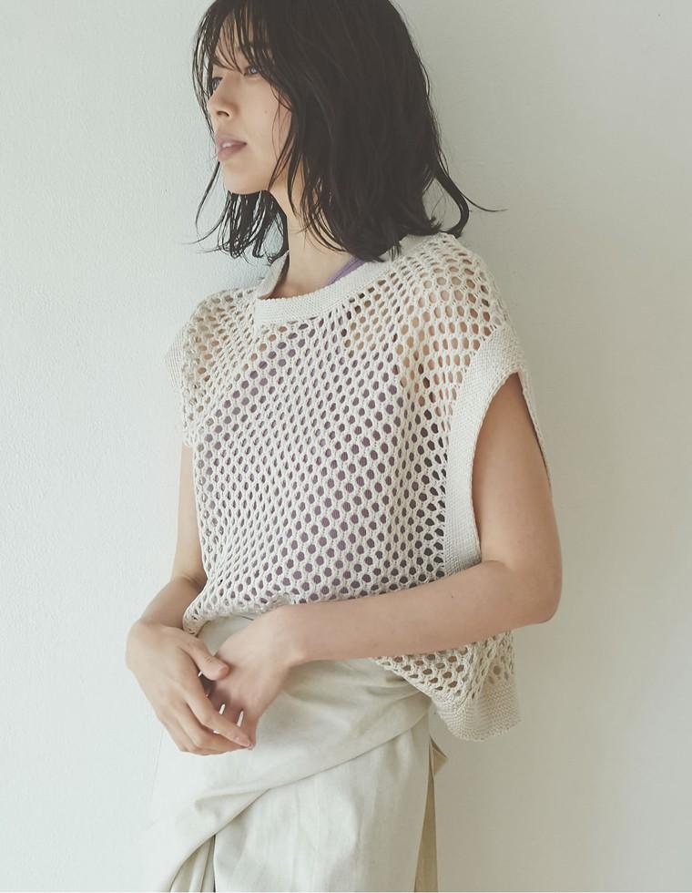 Re:EDIT‐リエディ [お家で洗える]透かし編みプルオーバー