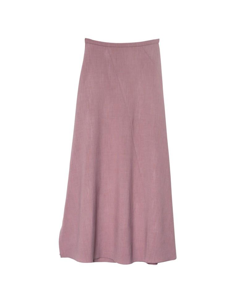 [涼感][お家で洗える][低身長向けSサイズ対応][高身長向けMサイズ対応]リネンライクスパイラルナロースカート