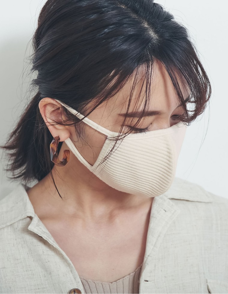 Re:EDIT‐リエディ 洗えるリブカットファッションマスク