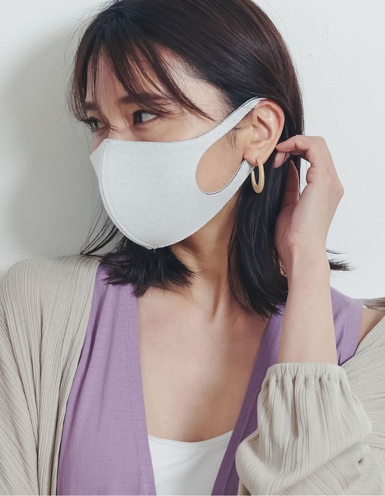 Re:EDIT‐リエディ [抗ウイルス・抗菌・防臭・消臭・洗える]ピアレスガード・マスク【同色同サイズ2枚入り】