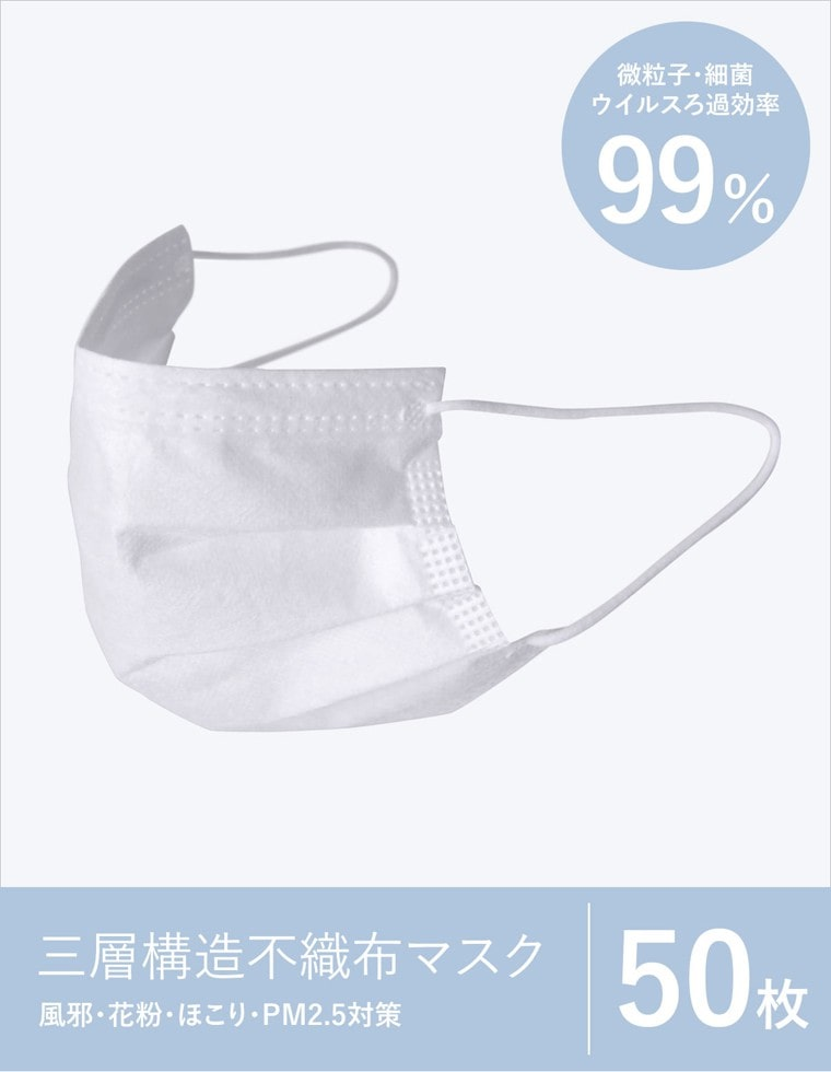 Re:EDIT‐リエディ [50枚入り]三層構造不織布マスク