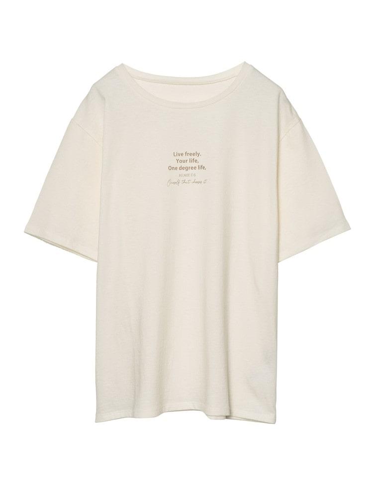 [近藤千尋さん着用][UVカット][抗菌防臭加工][お家で洗える]フロントメッセージロゴTシャツ