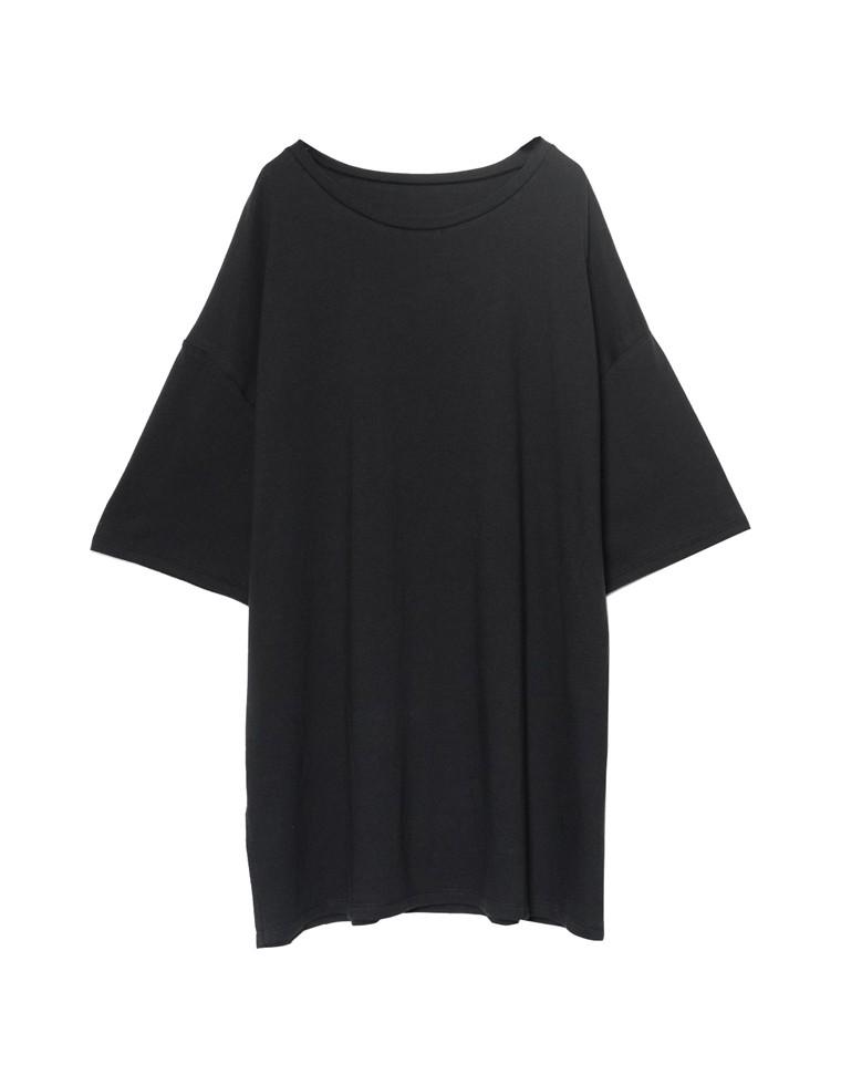 [UVカット][抗菌防臭][お家で洗える]オーバーサイズチュニックTシャツ