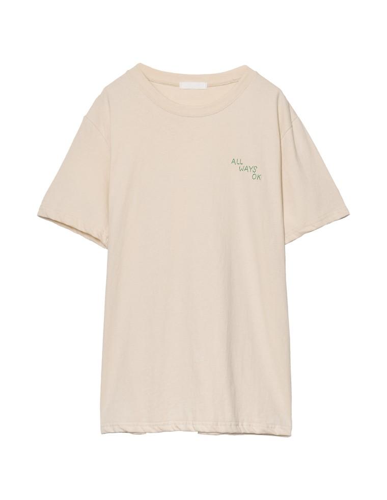 [お家で洗える]刺繍ロゴTシャツ