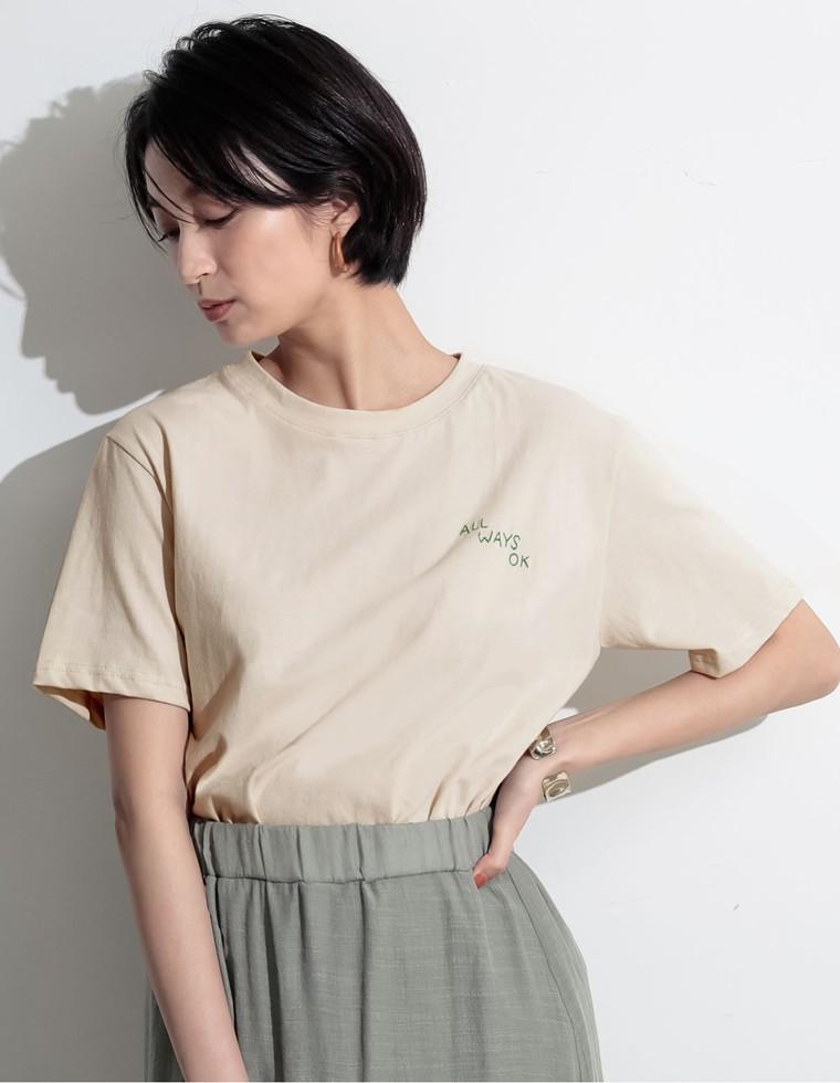Re:EDIT‐リエディ [お家で洗える]刺繍ロゴTシャツ